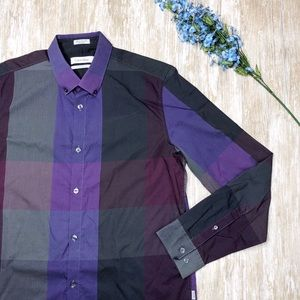 {Calvin Klein} Liquid Cotton Men Long Sleeve Shirt